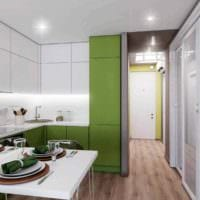вариант яркого стиля кухни 13 кв.м картинка