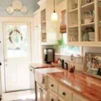 идея красивого декора кухни в деревенском стиле картинка