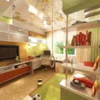 пример яркого дизайна комнаты 12 кв.м картинка