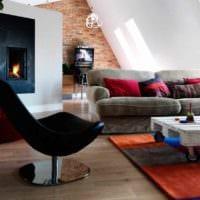 вариант необычного интерьера комнаты в скандинавском стиле фото