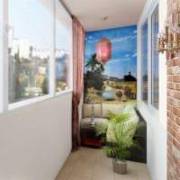 выбор стиля для маленького балкона