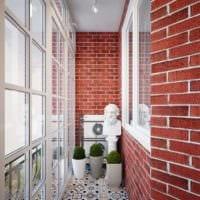 оригинальный дизайн маленького балкона