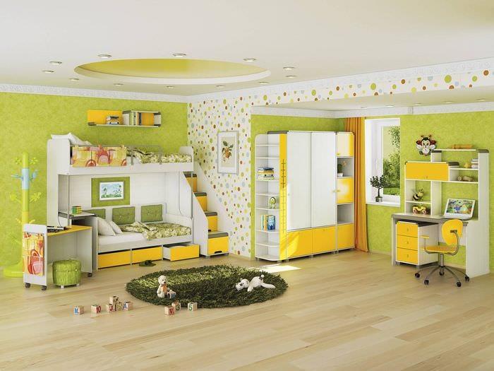 идея использования светлого желтого цвета в интерьере квартиры