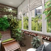 пример использования светлых идей оформления зимнего сада в доме картинка