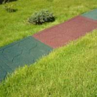 пример применения необычных садовых дорожек в ландшафтном дизайне картинка