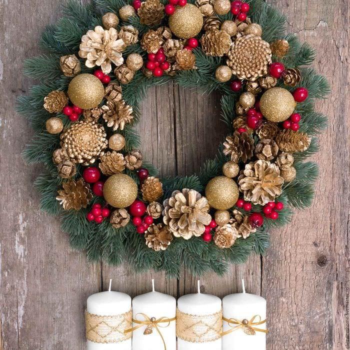 венки рождественские своими руками картинки