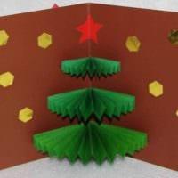 вариант создания необычной елки из бумаги самостоятельно фото