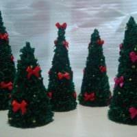идея создания красивой елки из бумаги самостоятельно картинка