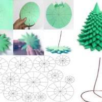 идея создания яркой елки из картона своими руками фото