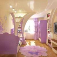 пример необычного декора детской комнаты для девочки картинка