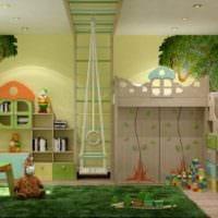идея светлого интерьера детской комнаты для девочки фото