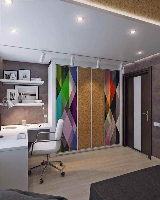 идея необычного стиля комнаты 12 кв.м