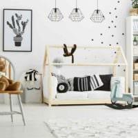 вариант необычного дизайна комнаты в скандинавском стиле фото