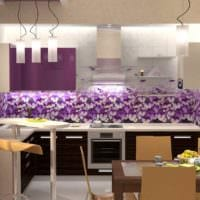 идея яркого интерьера кухни 10 кв.м. серии п 44 фото