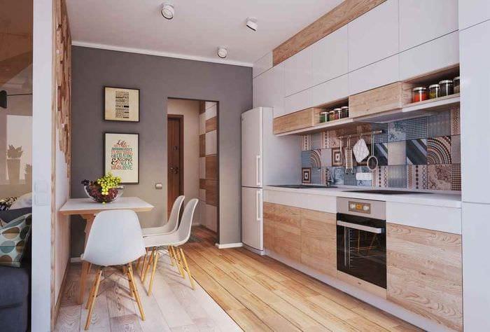 вариант красивого стиля кухни 11 кв.м