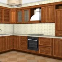 пример светлого декора кухни с газовой колонкой картинка