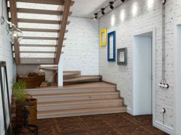 идея яркого декора кухни в загородном доме картинка