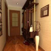 идея яркого интерьера прихожей в частном доме картинка