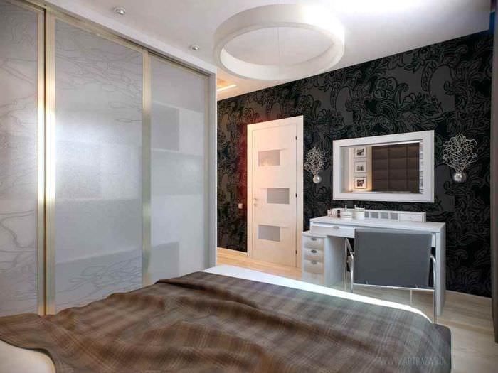 идея светлого интерьера комнаты 12 кв.м