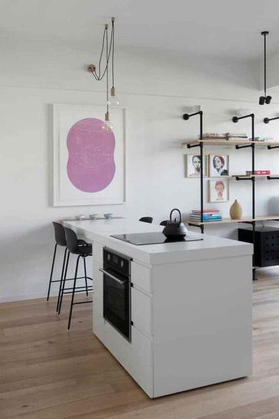вариант красивого декора кухни 10 кв.м. серии п 44 картинка