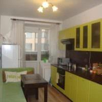 вариант светлого интерьера кухни 12 кв.м картинка