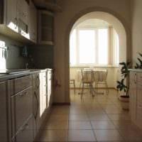 идея светлого дизайна кухни 13 кв.м фото