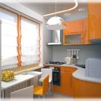 вариант светлого декора кухни 7 кв.м картинка