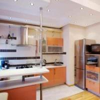 пример необычного интерьера кухни 7 кв.м фото