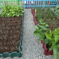 идея необычного дизайна огорода в частном дворе картинка