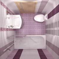 пример красивого декора укладки плитки в ванной комнате фото