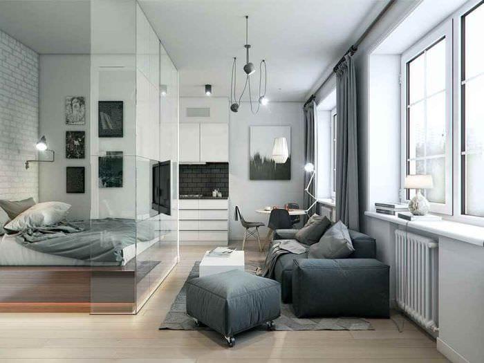 идея яркого стиля гостиной 15 кв.м