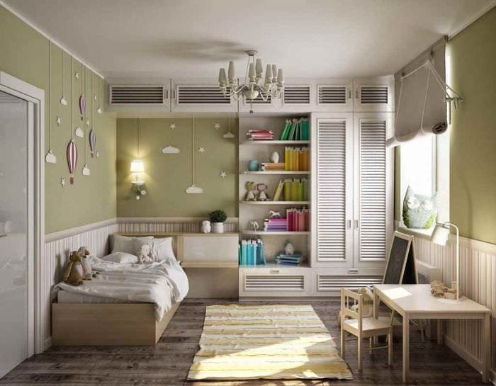 пример необычного интерьера комнаты 12 кв.м