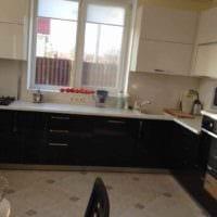пример красивого интерьера кухни 10 кв.м. серии п 44 фото