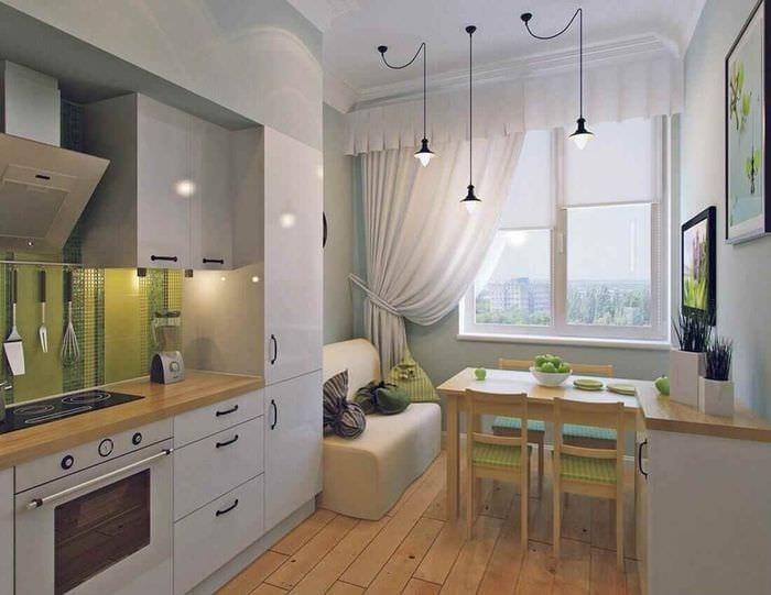 идея красивого декора кухни 12 кв.м