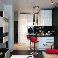 идея необычного дизайна кухни 13 кв.м фото