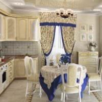 идея красивого дизайна кухни в деревенском стиле картинка