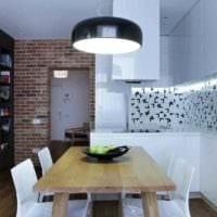 пример красивого стиля квартиры студии 26 квадратных метров картинка