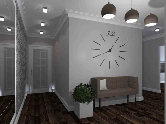пример светлого дизайна прихожей в частном доме