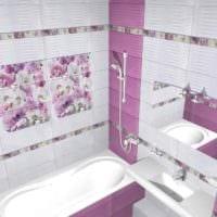 идея светлого интерьера укладки плитки в ванной комнате картинка