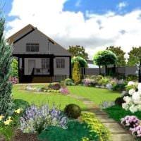 идея светлого дизайна огорода в частном дворе фото
