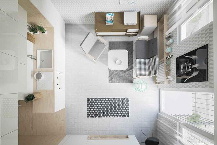пример красивого декора студии 20 кв.м.