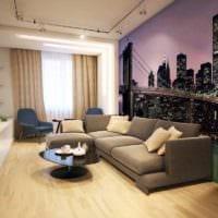 пример необычного стиля гостиной 15 кв.м картинка