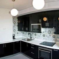 вариант яркого дизайна кухни 10 кв.м. серии п 44 фото