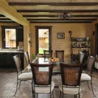 пример необычного дизайна кухни в деревенском стиле фото