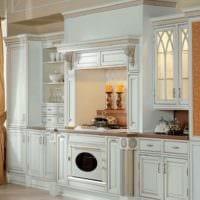 идея яркого дизайна кухни в классическом стиле фото