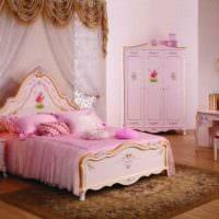 пример красивого стиля детской комнаты для девочки фото