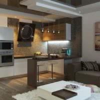 вариант светлого декора гостиной 15 кв.м фото