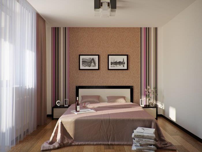 идея яркого интерьера комнаты 12 кв.м