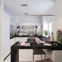 идея светлого дизайна кухни 11 кв.м картинка