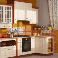 вариант светлого стиля кухни 13 кв.м фото